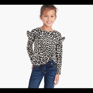 Crewcuts leopard long sleeve